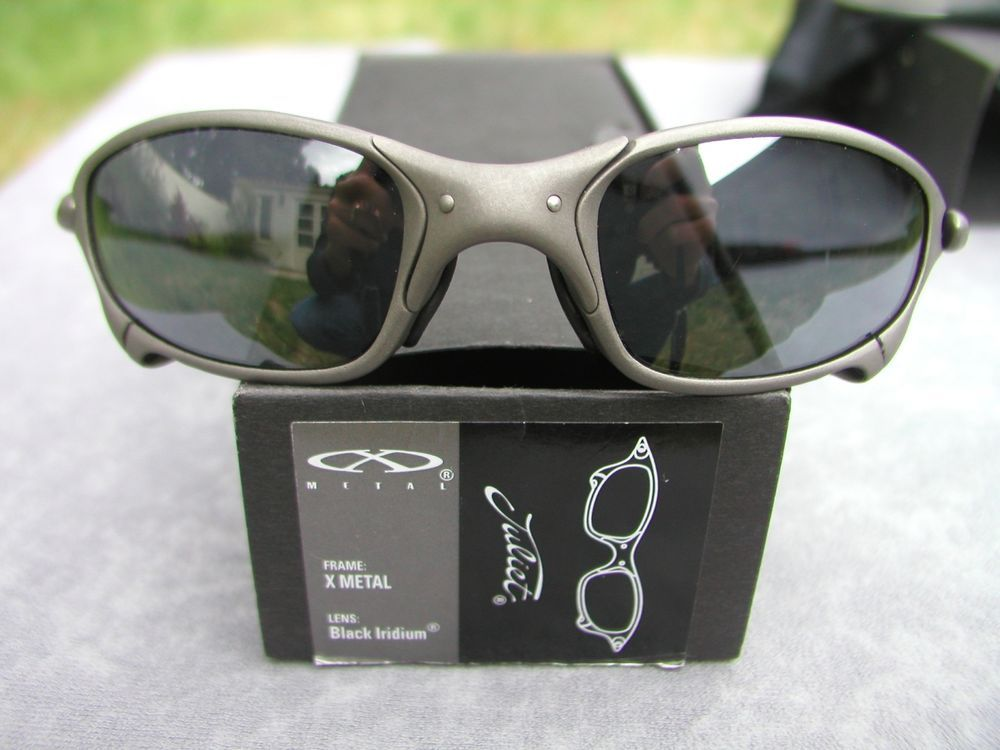 7f8695b39f412 Oakley Juliet Sunglasses X-Metal, Black Iridium, J Serial Number, Original  Box in Clothing, Shoes   Accessories, Men s Accessories, Sunglasses    Fashion ...