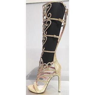 1696d4b3716a1c Celeste Celeste Knee High Glitter Rhinestone Stiletto Heel Zipper