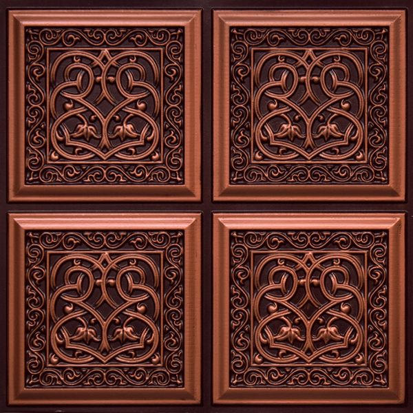 "Decorative Tin Ceiling Tiles Lover's Knot  Faux Tin Ceiling Tile  Glue Up  24""x24""  #231"