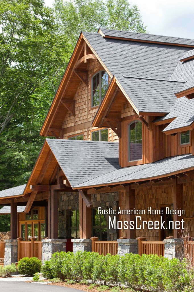 Mountain timber frame home in the heart for Rustic timber frame homes