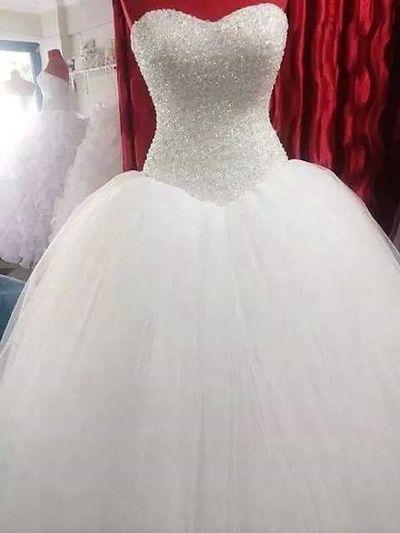 20603b796eb6 Romantic wedding dress,Ball Gown Wedding Dress,Tulle Wedding dress ,Sweetheart…
