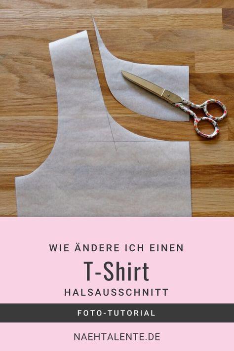 T-Shirt Ausschnitt vergrößern - einfach gemacht #sewins