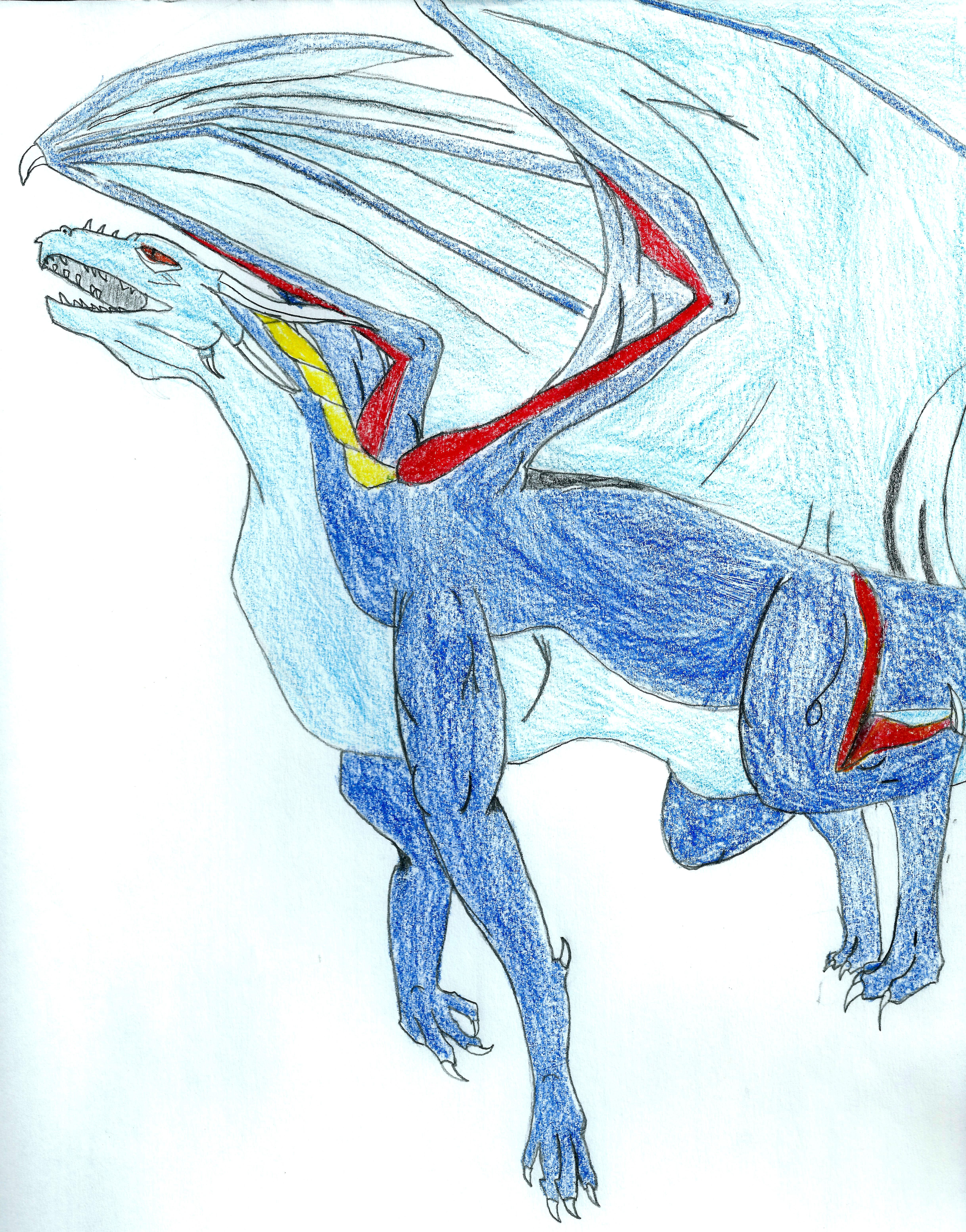 made this a while ago sorry the heads bad | Dragon drawing
