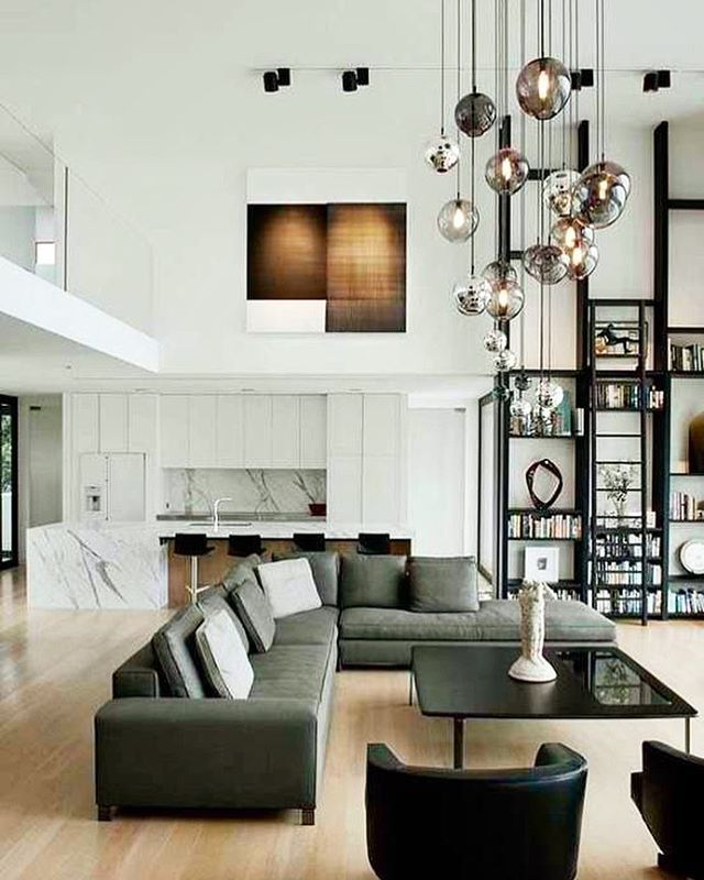 Livingroom #DoubleHeight #ModularCouch #OpenConcept #ModernStyle