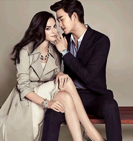 kaya scodelario and kim soo hyun for j estina couple shoot