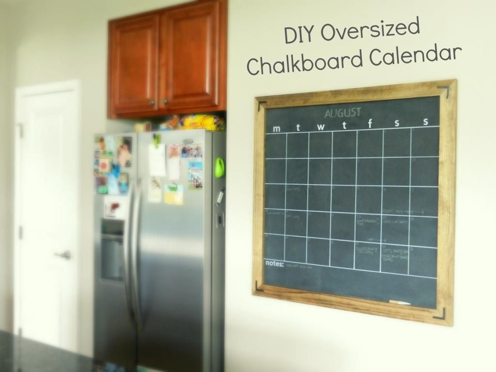 Moving to the Country: DIY Chalkboard Calendar | Creativity ...