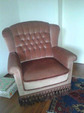 sessel sofa vintage retro antik altrosa barock couch. Black Bedroom Furniture Sets. Home Design Ideas