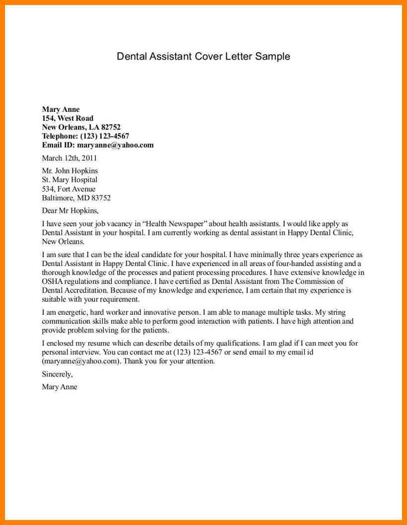 27 Medical Assistant Cover Letter Sample 9 Wsl Loyd