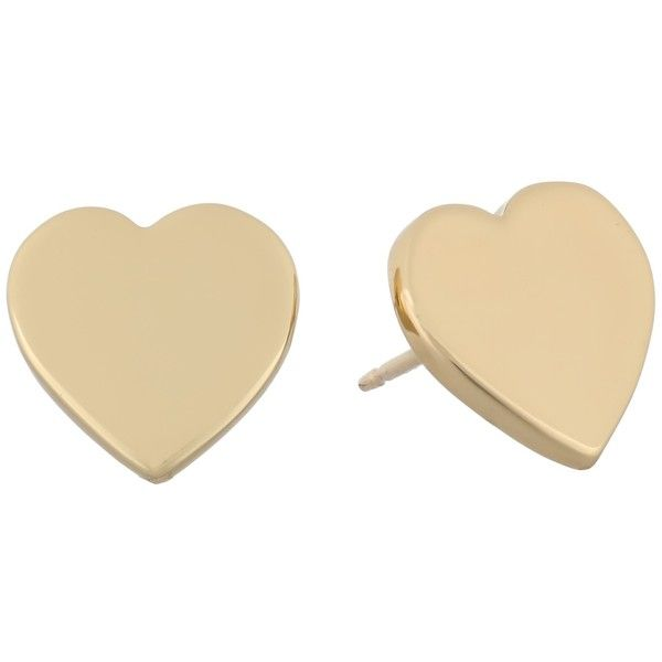 Kate Spade New York Dear Valentine Heart Studs Earrings found on Polyvore