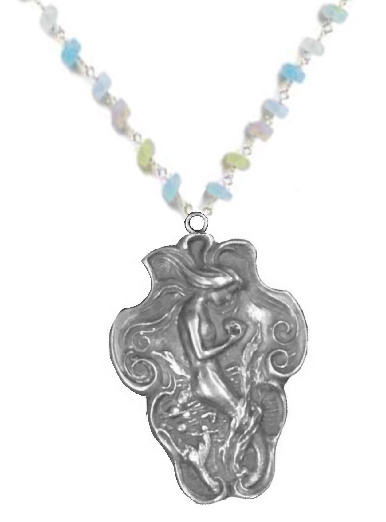 Beautiful Art Nouveau mermaid pendant necklace