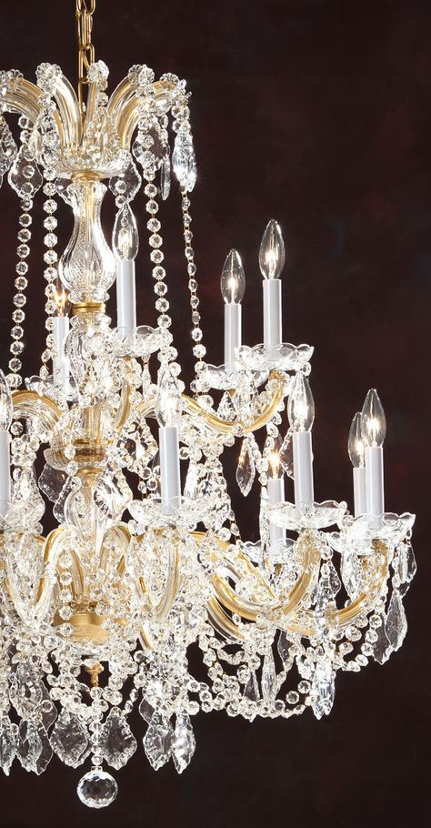 Details about Maria Theresa Crystal Chandelier Lighting Dressed with Diamond Cut Crystal!