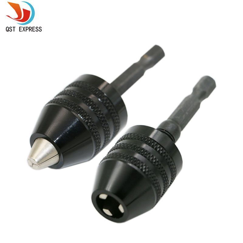 1pc 0 3 8mm black keyless drill chuck screwdriver impact. Black Bedroom Furniture Sets. Home Design Ideas
