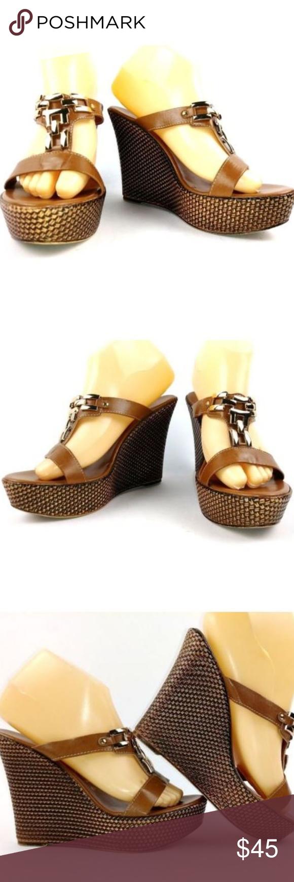 9cefd0bf0c9 Italian Shoemaker Contesa Wedge Sandal Size 39 Italian Shoemaker ...