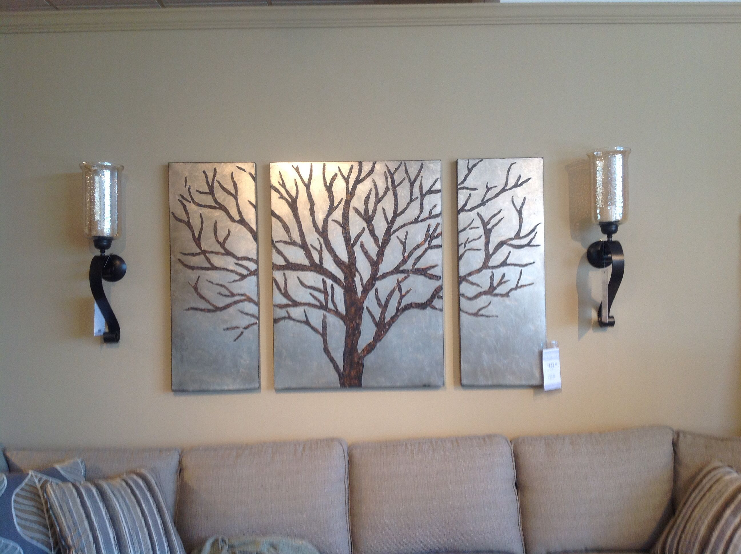 Especially the wall sconces for flanking the metal tree art in especially the wall sconces for flanking the metal tree art in previous pin amipublicfo Image collections