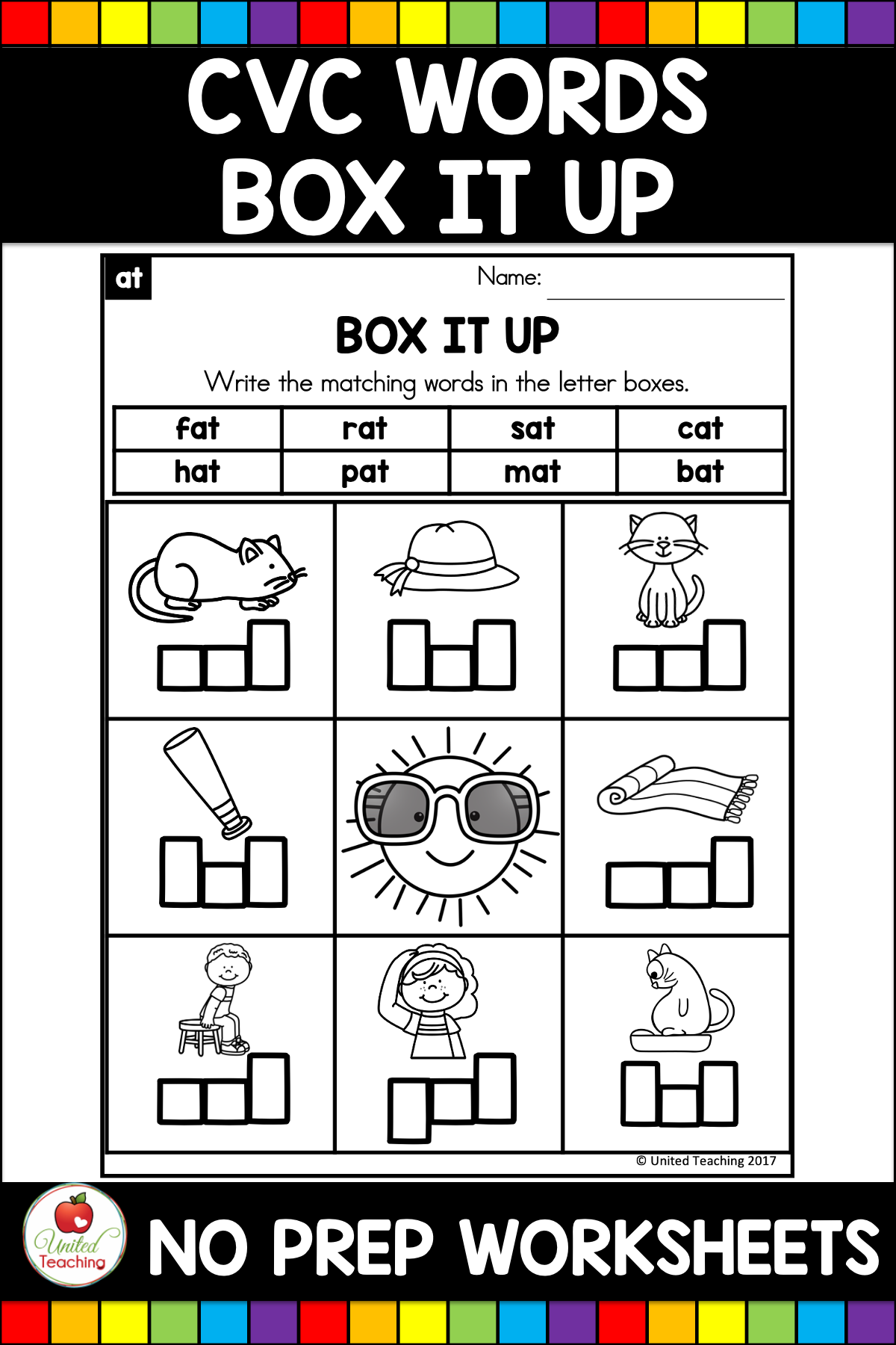Cvc Words Box It Up United Teaching Cvc Words Writing Cvc Words Cvc Word Activities [ 1800 x 1200 Pixel ]