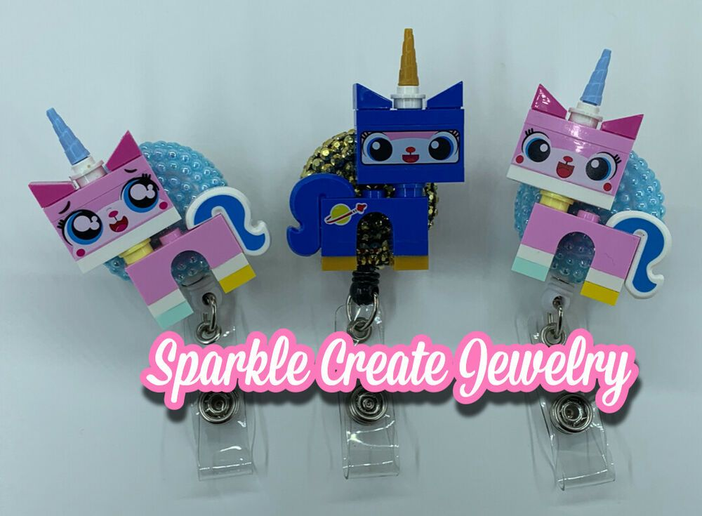 Details about unikitty lego retractable badge reel