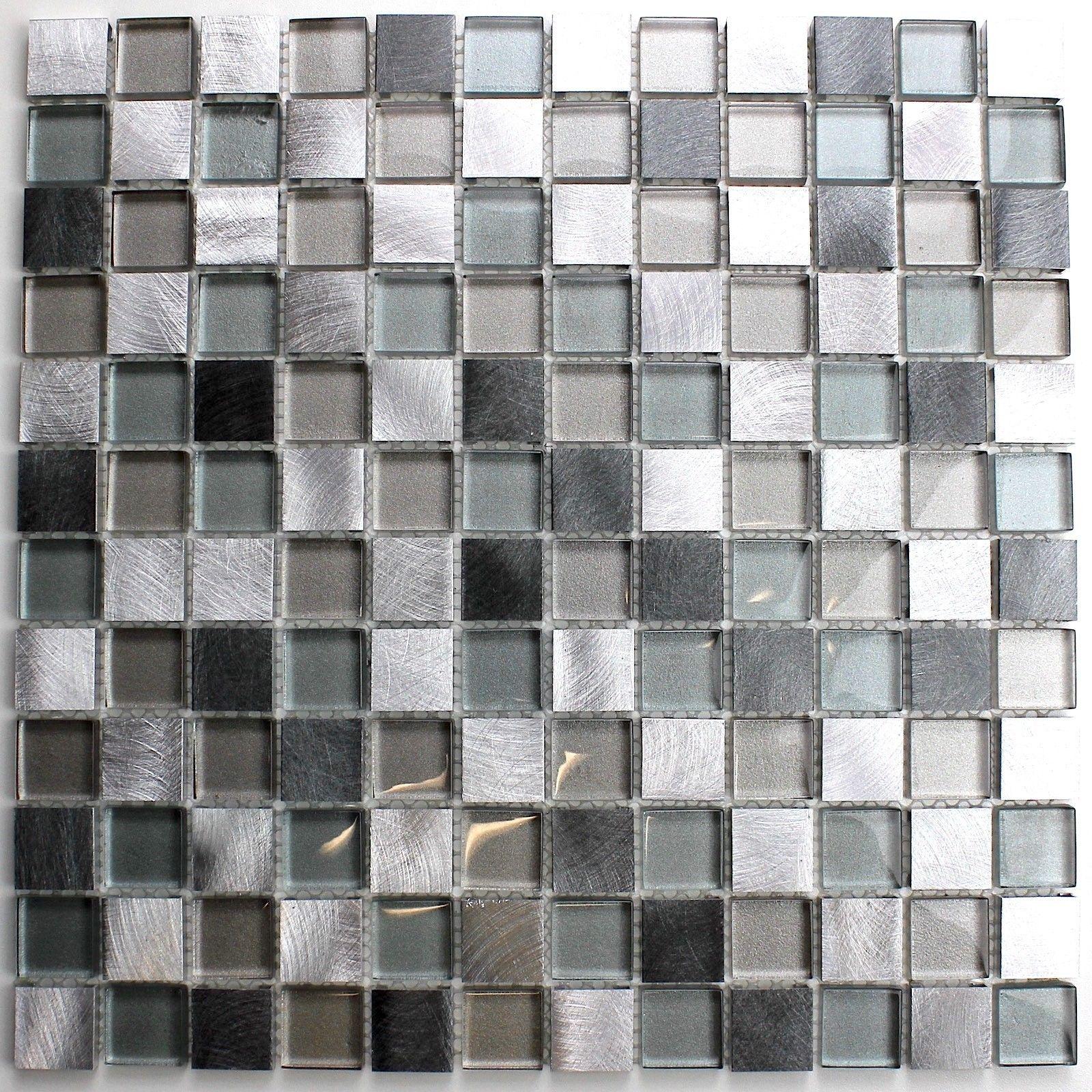 Fliesen Mosaik Bad Und Dusche Aluminium Und Glas HEHO 11,50