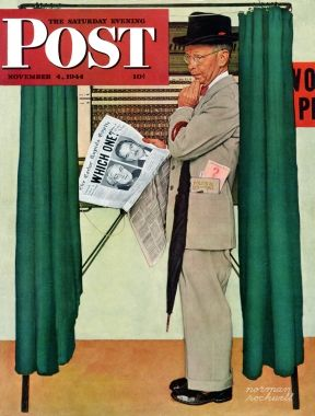 Undecided Norman Rockwell November 4, 1944
