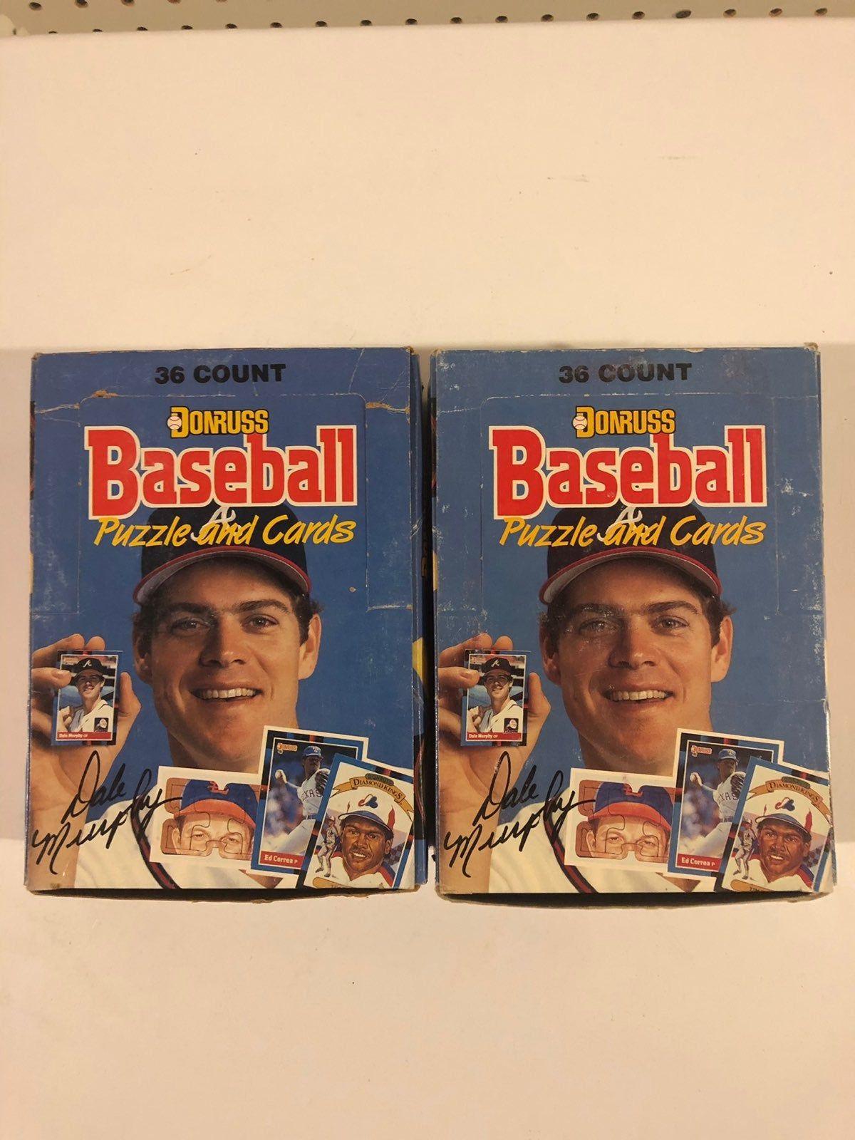 1988 donruss unopened baseball card packs 2 boxes
