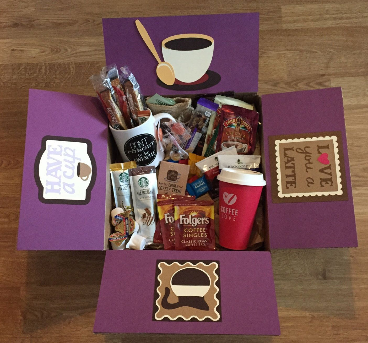 Love you a latte care package cheesy gifts care package