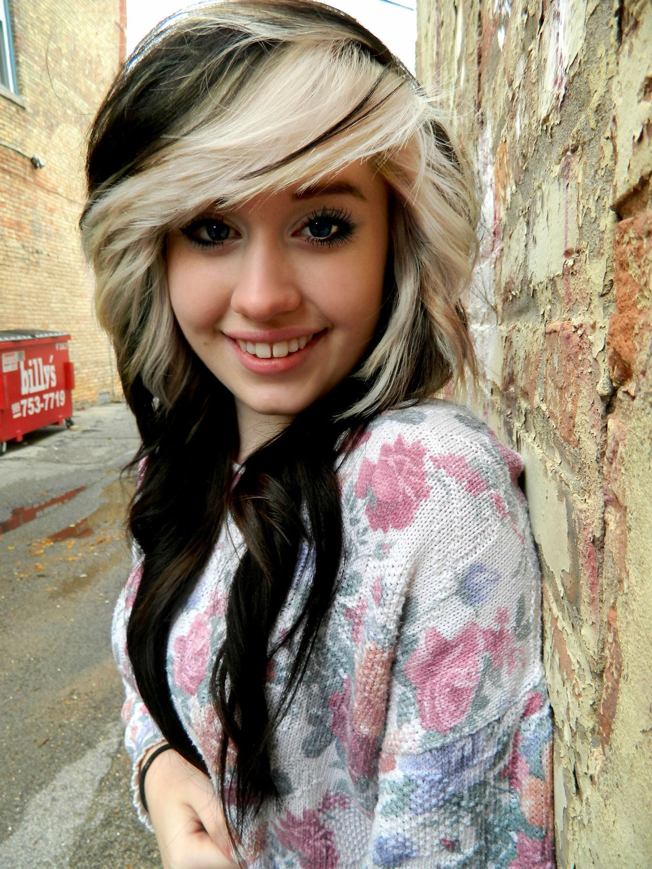 Black hair with blonde highlights for hairstyles follow me