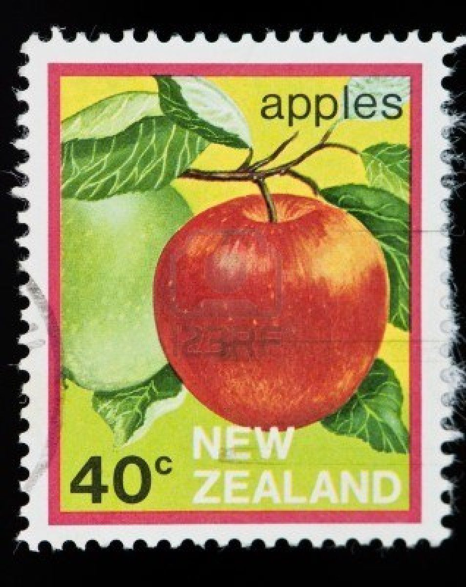 new-zealand-circa-1900-s-a-potage-stamp-from-new-zealand-of-an-apple-circa-1900