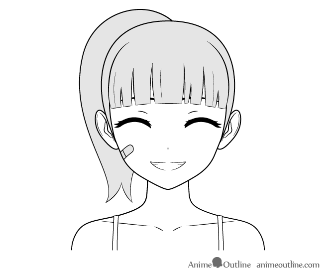 How To Draw Anime Characters Tutorial Animeoutline Happy Face Drawing Anime Drawings Anime Character Drawing