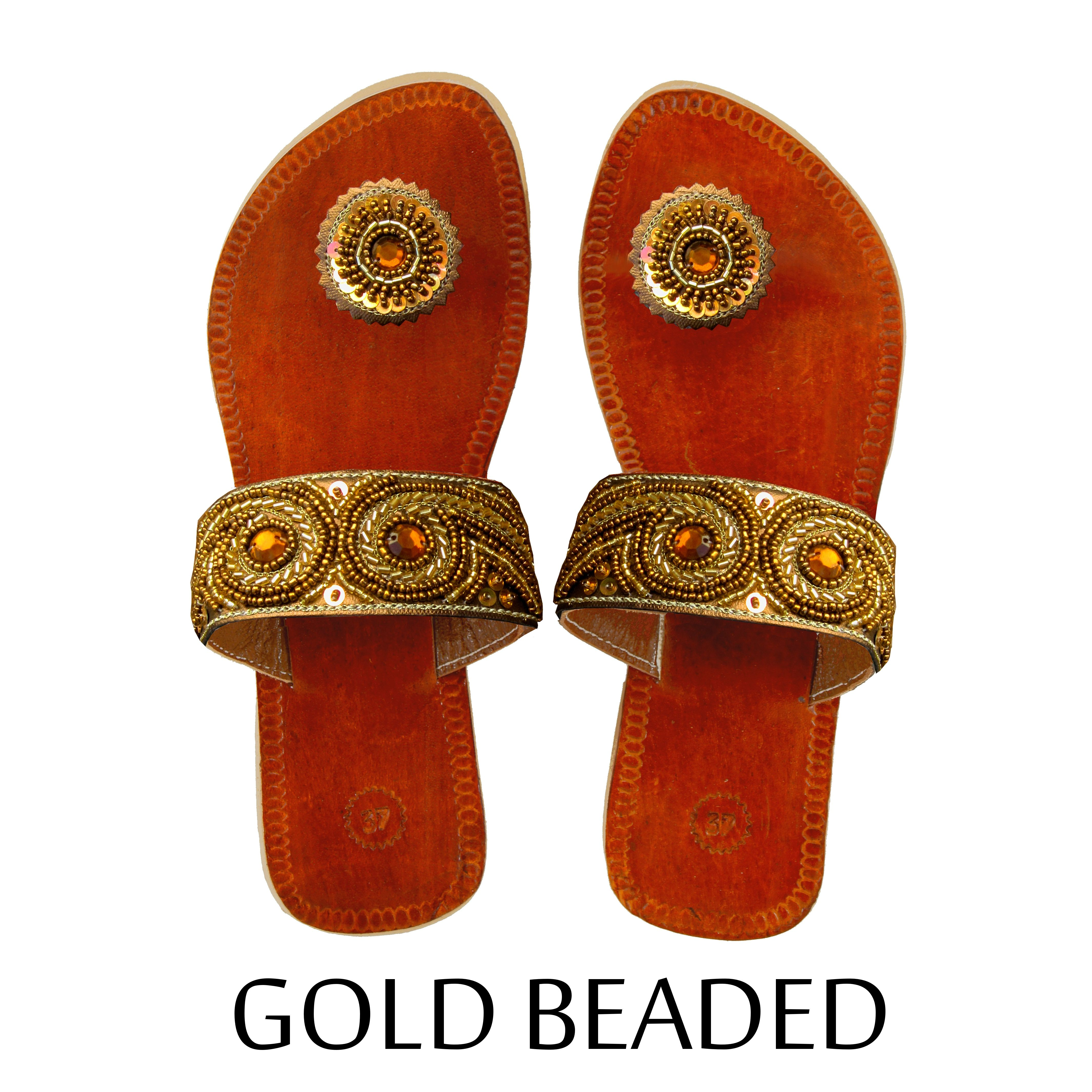 7c9c21600 Gold Beaded Paduka Sandals on sale now for  24.99 on eBay and Amazon with  FREE shipping!