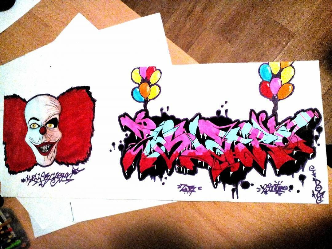 #killer #graffitiartist #graffitiart #graffiti #graff #arts #art #clown #killerclown #streetart #wildstyle #circus #draw #drawing #paper #markers #paint #paintmarkers #acrylicmarker #acrylicpaint #montanaacrylic #desingmarkers by lukasbaloun