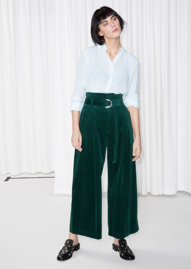 WANT   & Other Stories image 2 of Wide Corduroy Trousers in Green