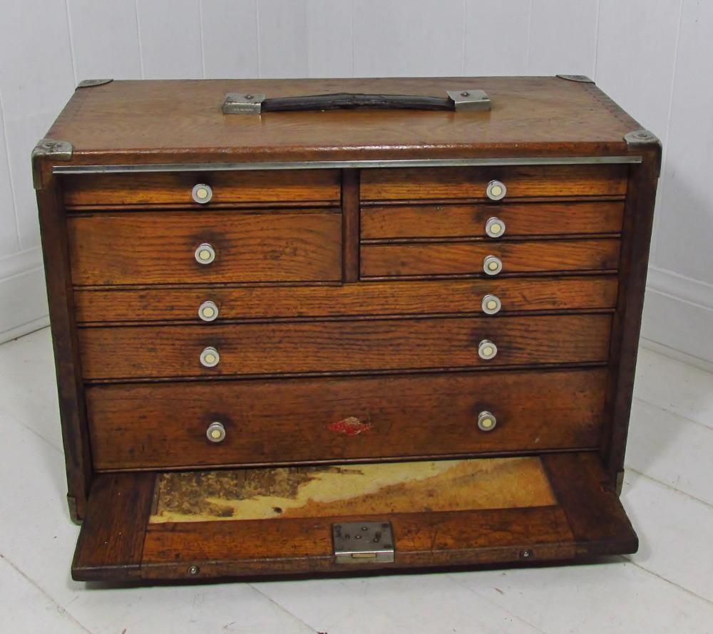 Pruitts Bedroom Furniture: Vintage~ Neslein 8 Drawer Oak Engineers / Toolmakers Tool