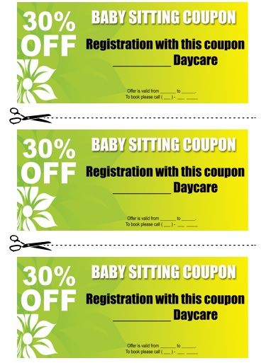 Babysitting Coupon Book Template 11 Babysitting coupon book - free printable vouchers templates