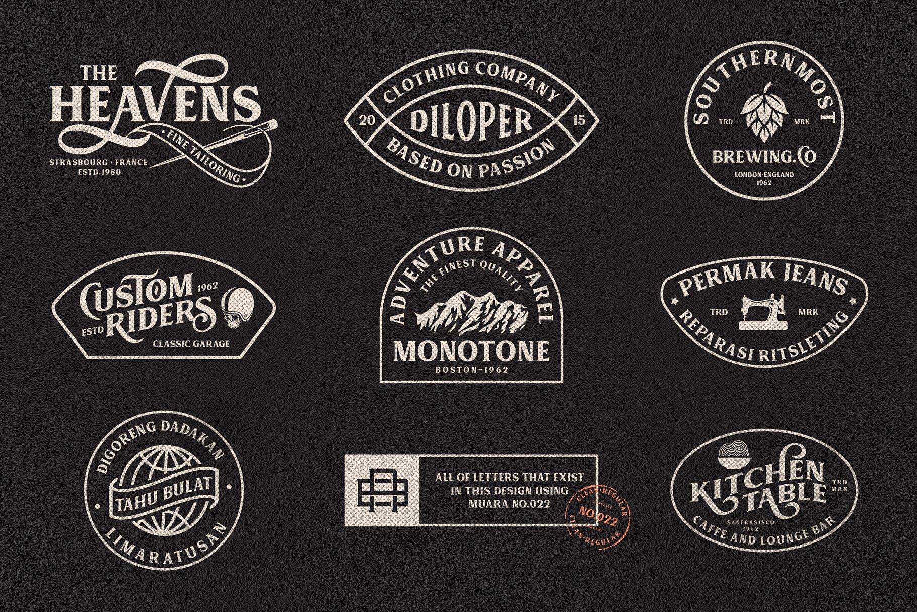 Muara Business Logo Design Vintage Fonts Free Font