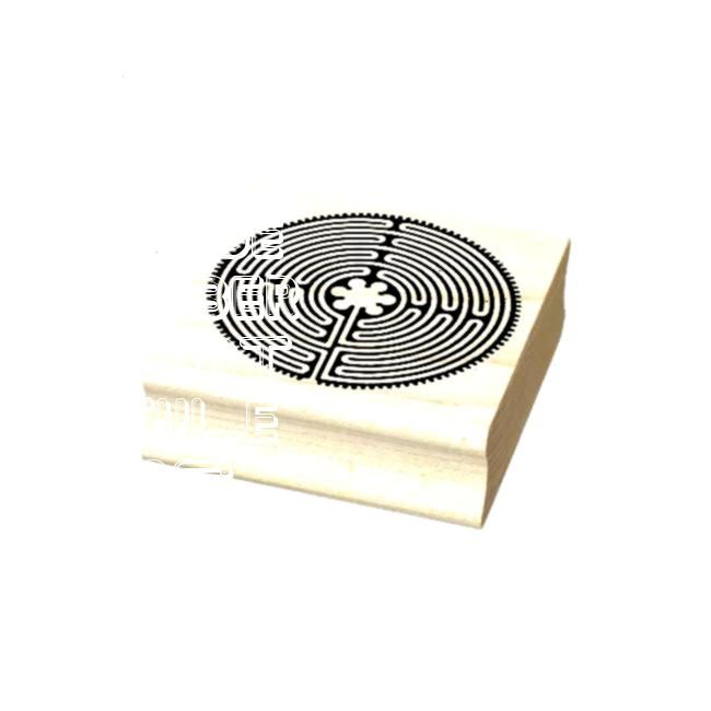 Labyrinth antique style your ideas Rubber StampChartres Labyrinth antique style your ideas Rubber Stamp Michigan Solid Rubber Art Stamp Wedding stamp chic script self ink...