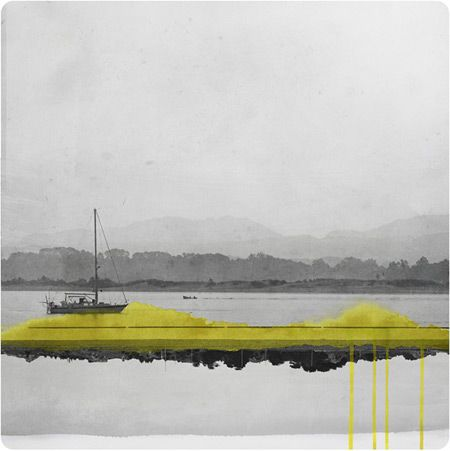 Mirrored Photographs Combined with Watercolor - Yellow