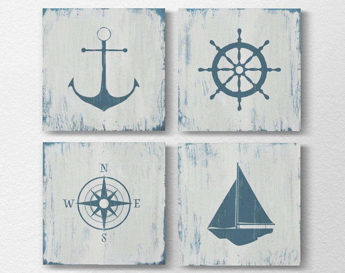 Nautical wall art decor nautical nursery rustic nautical prints nautical wall art decor nautical nursery rustic nautical prints beach house art amipublicfo Choice Image