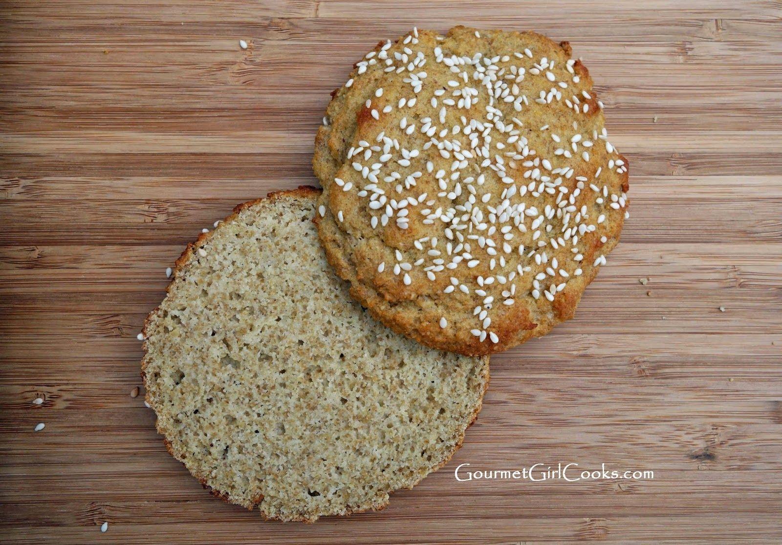 Gourmet Girl Cooks: Sesame Seed Sandwich Buns -- Low Carb, Wheat, Grain & Gluten-Free