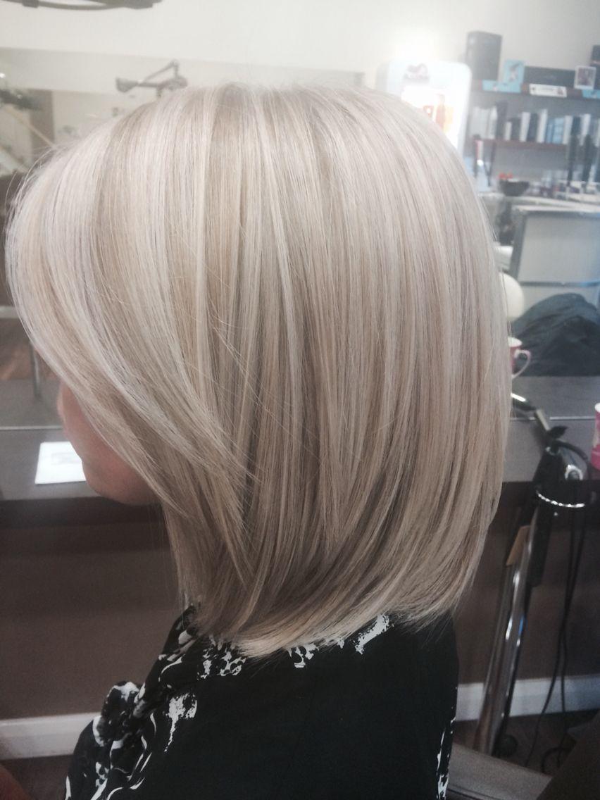 Blonde highlights with Wella instamatic smokey amethyst  4192417a20