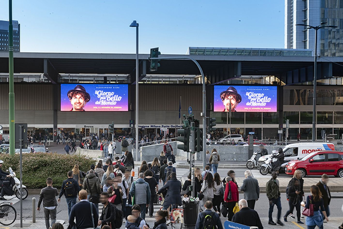 Il Giorno Piu Bello Del Mondo Maxi Ledwall Outdoor Milano Upgrademedia Adv Advertisingcampaign Upgrade Milano Siani Film Ilgiorno Maxi Urban Milano