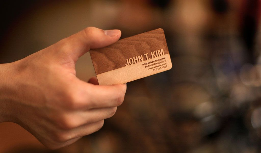 Engraved Wooden Business Cards | Business cards and Business