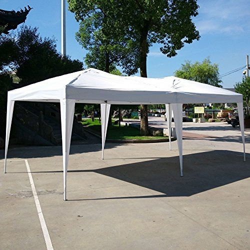 Z Ztdm 10x20 Ft Outdoor Patio Party Car Canopy Waterproof Shade Instant Gazebo Folding Tent White Read More Reviews Of With Images Gazebo Outdoor Tent Outdoor Gazebos
