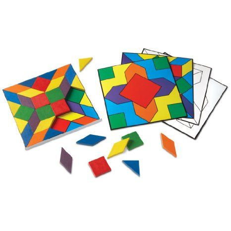 Learning Resources Parquetry Blocks And 20 Pattern Cards Even My