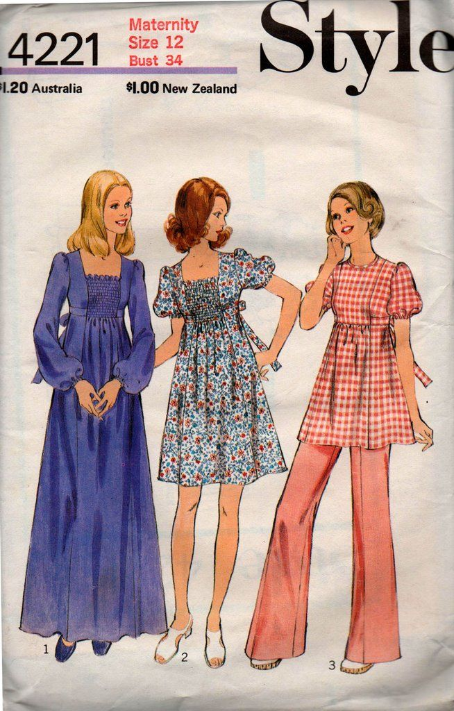 Maternity Miss Size 12 Vintage 1970s Retro Sewing Pattern Lot Of 7