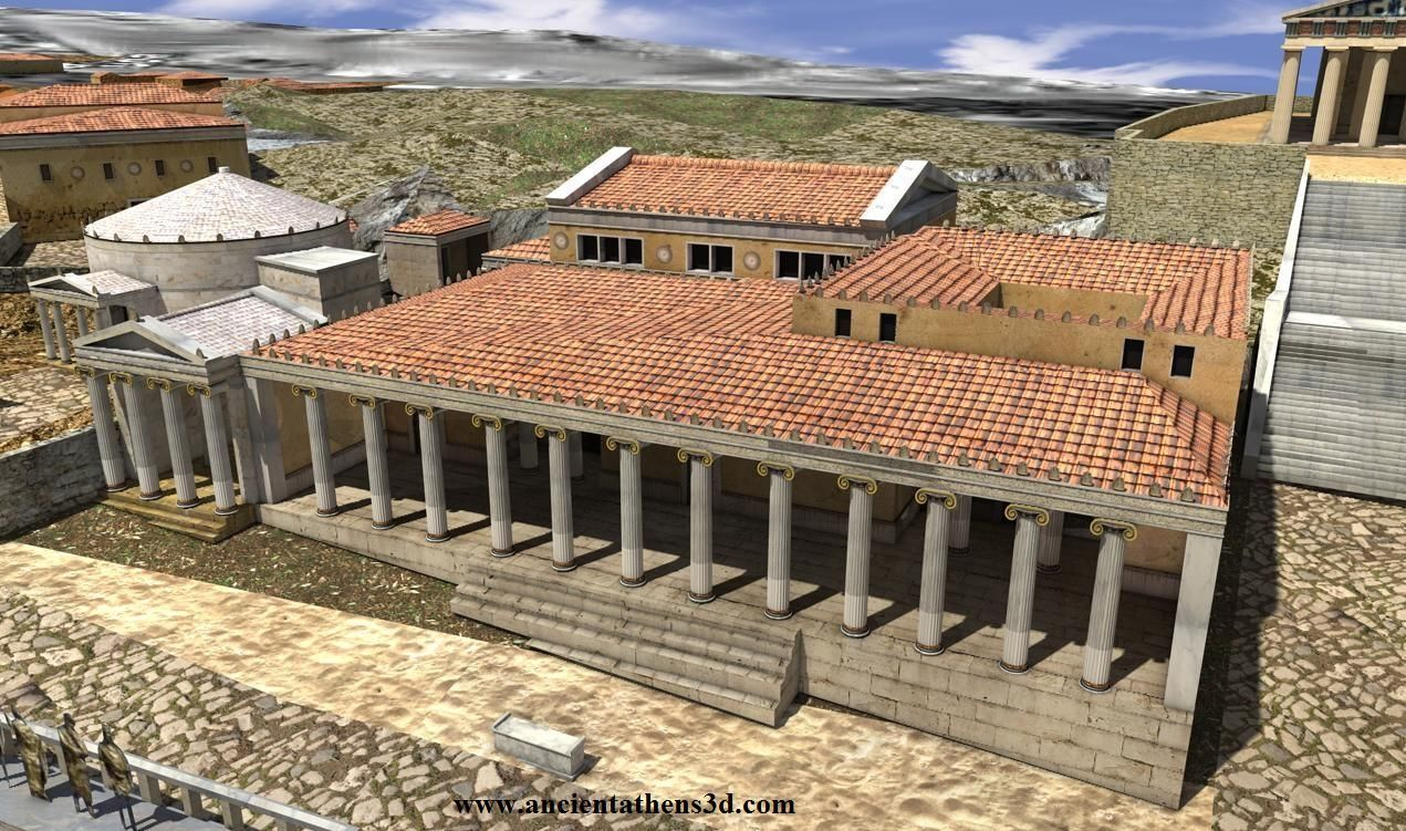 3d Representation Of The Ancient Agora In Athens Greece Ancient