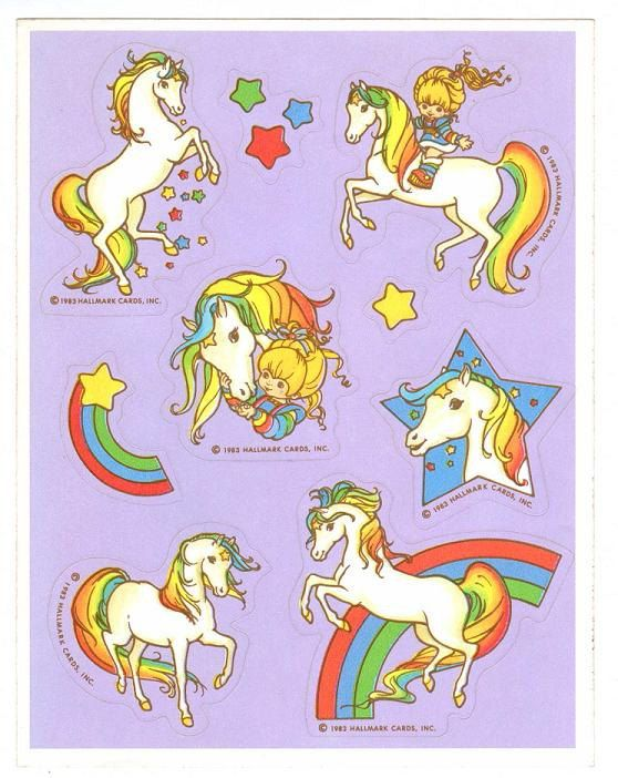 hallmark rainbow brite starlite horse sticker sheet vintage 1983 version b rainbow brite stickers rainbow stickers rainbow brite pinterest