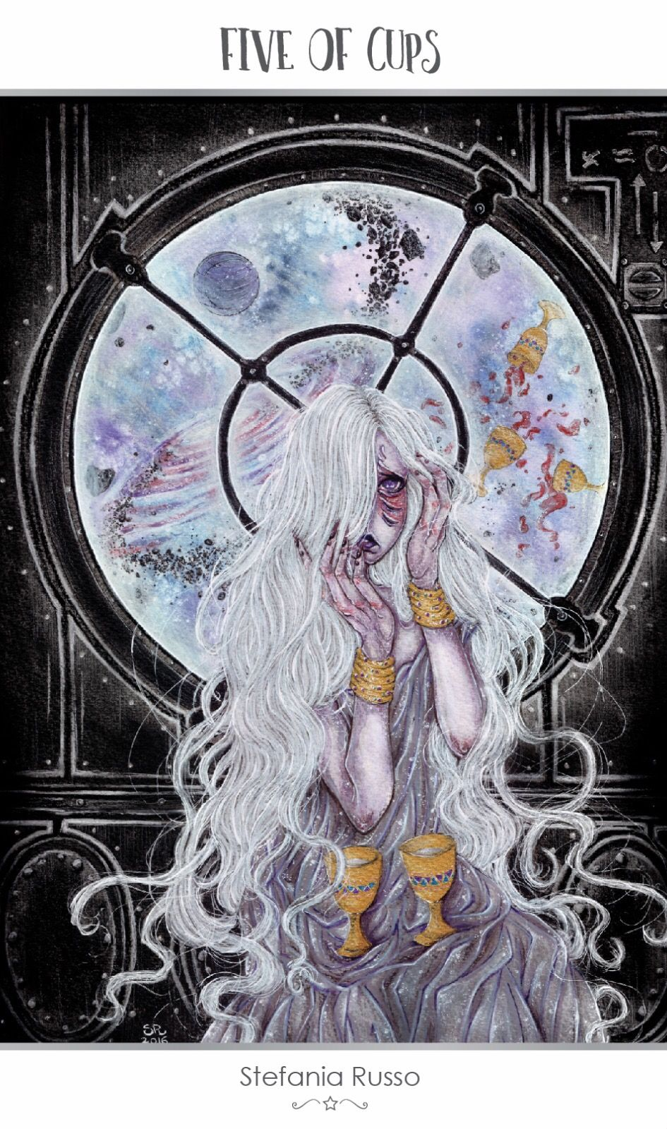 Featured card of the day 5 of cups 78 tarot astral