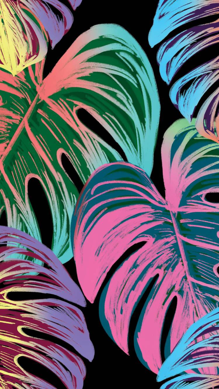 Tropical Vibeswalllpaper fondos art Iphone wallpaper