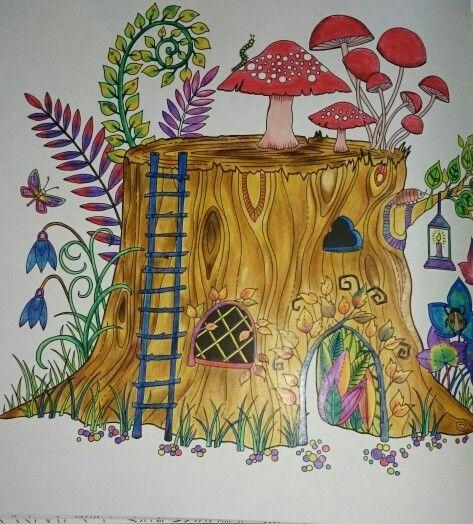 Gizemli Orman Boyama Sayfalari Ormanlar Resim