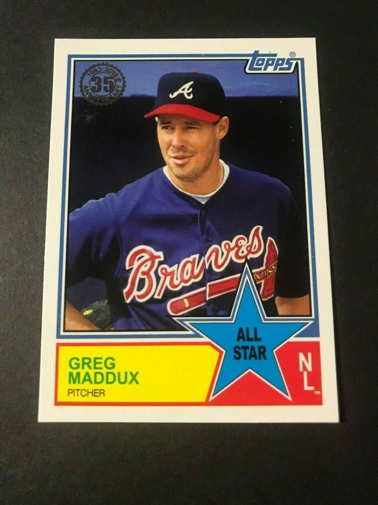 2018 Topps 1983 Edition All Star Greg Maddux Atlanta