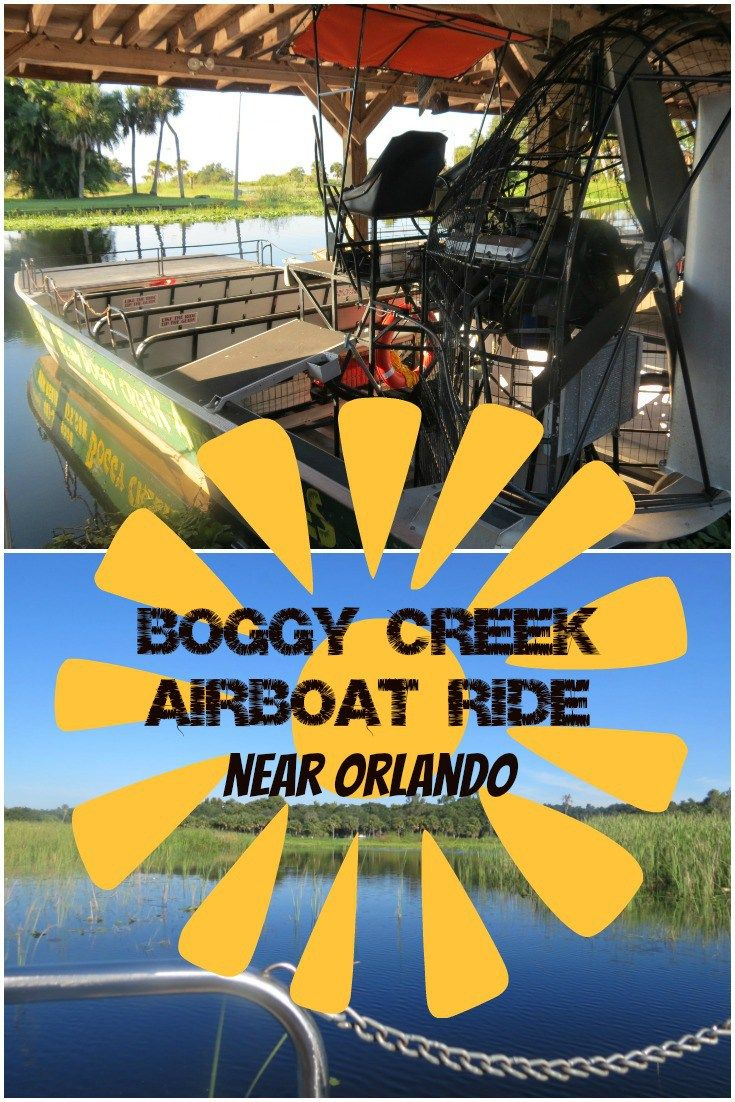 Airboat Ride at Boggy Creek near Orlando Airboat rides